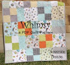 Whimsy Quilt Pattern - Layer Cake or 10inch Stacker Friendly ... & Whimsy Quilt Pattern - Layer Cake or 10inch Stacker Friendly Adamdwight.com