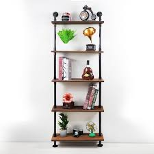 2019 industrial pipe shelf floating wall shelf rustic wood plank with black iron pipe tiers pipe shelf rack from att hardware 75 38 dhgate com