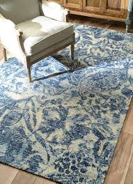 use blue and white rug