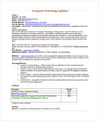 college syllabus template syllabus template 7 free word documents download free
