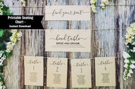 How To Make A Wedding Seating Chart Editable Table Seating Chart Template Printable Wedding