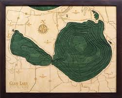 Nautical Wood Charts Glen Lake 3 D Nautical Wood Chart 16 X 20 Inland Lakes
