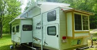 Diy travel trailer Cargo Trailer Trailer Alloutdoorcom This Traditional Trailer Gets Transformed Into Cozy Tiny Home