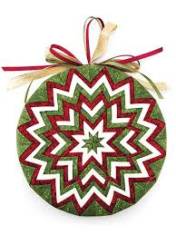 Christmas Ornament Patterns Impressive The Gift Box NoSew Ornament Pattern