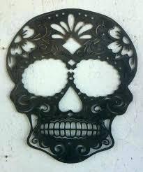 gothic wall decor wall art wall art metal sugar skull wall art home decor accessories metal