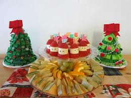 Decorated Fruit Trays Fruit Tray for Kid's Christmas Party 100 Working Mom's Edible Art 97
