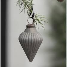 Weihnachtskugel Tropfenform In Taupe