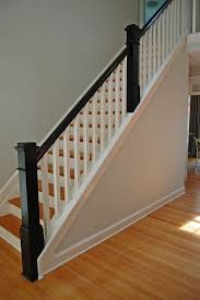 Stairs, Astonishing Wood Railings For Stairs Indoor Stair Railings Black  And White Wood Railings: