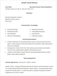 resume example –    free samples  examples  format download    teacher resume example template