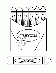 Crayons Coloring Page For Kids Back To School Coloring Pages