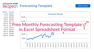 Sales Forecast Chart Template Monthly Forecasting Excel Spreadsheet Template