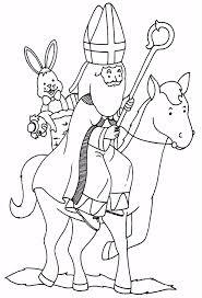 10 Kleurplaat Sinterklaas En Zwarte Piet En Paard