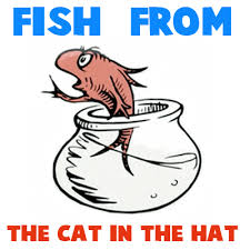 how to draw the fish from the cat in the hat in easy steps tutorial