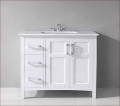 white bathroom vanities with drawers. Modern And Simple 30 Inch White Bathroom Vanity With Drawers \u0026 Qualified Strong Stainless Steel Faucet Square Shallow Sink Vanities Pinterest