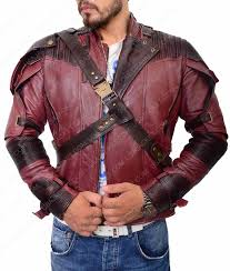 star lord vol 2 maroon leather jacket