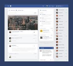 Facebook Website Design Facebook Material Design Uplabs