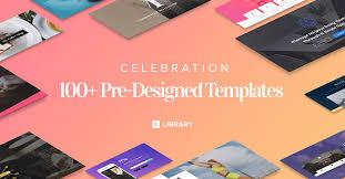 Celebration 100 Designer Made Wordpress Templates To