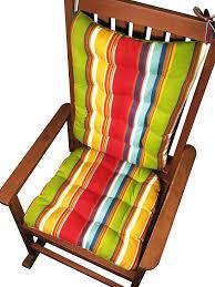 com porch rocker cushions westport cabana stripe blue extra large indoor outdoor fade resistant mildew resistant latex foam fill