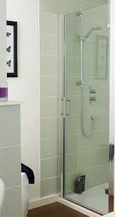 image for edhd76 ergonomic designs 760mm hinged 6mm toughened safety glass shower door