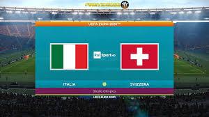 Pes 2021 UEFA EURO 2020 Italia Vs Svizzera   Stadio Olimpico Roma - YouTube