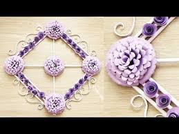 Paper Flower Making Video Wall Decoration Ideas Beautiful Wall Hanging Making At Home