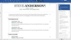 How To Use LinkedIn Resume Assistant In Microsoft Word Steve Anderson Inspiration Linked In Resume