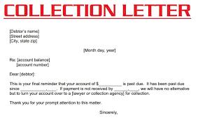 sample of collection letter letter format