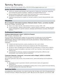 Sample Resume For Network Administrator Sample Resume For An EntryLevel Systems Administrator Monster 10