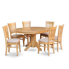 Shop 7 Piece Dining Table With Leaf And 6 Dinette Chairs Free