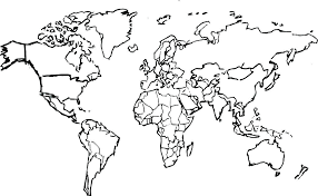 World Map Black And White Printable With Countries Black And White Map Of The World Blank World Map Best Photos Of