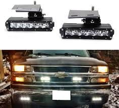 99 Tahoe Light Bar Ijdmtoy Led Light Bar Fog Lamps Compatible With 99 02 Chevrolet Silverado 1500 2500 00 01 3500 00 06 Suburban Tahoe Includes 2 30w Cree Led Light