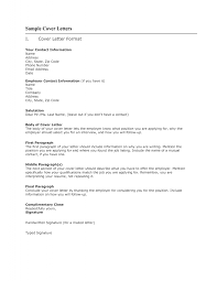 Cover Letter Format Of Cover Letter For A Job Sample Of A Cover