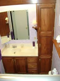 bathroom vanity and linen cabinet. White Linen Cabinet For Bathroom Small Decoration Using Solid Oak Wood Vanity Cabinets Including Granite Tall Bath And