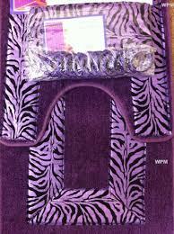 4 piece bath rug set 3 piece purple zebra bathroom rugs with fabric shower curtain