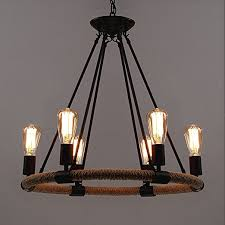 industrial chandelier lighting. BAYCHEER Rustic Rope Chandeliers 25 Inch Industrial Pendant Light Lighting Fixture 6 Lights Chandelier A