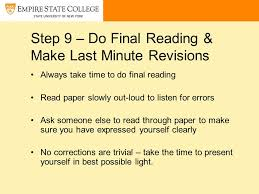 writing a research paper ppt video online step 9 do final reading make last minute revisions