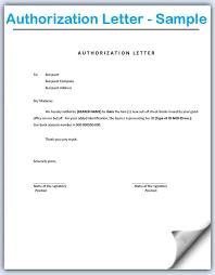 Authorization Letter Sample Interestingpage Samples