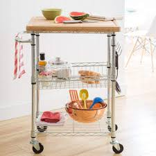 kitchen island cart white. Metal Kitchen Cart With Wood Top Large Movable Island Rolling Microwave White Trolley N