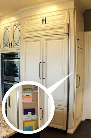 panel ready refrigerator kitchen traditional with painted cabinet glaze red freestanding stoves cream cabinets fridge kitchenaid