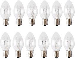 Night Light Wax Warmer Bulbs 25 Watt E12 Bulbs Replacement For Scentsy Plug In Nightlight Wax Warmers Himalayan Wax Diffusers 12 Packs