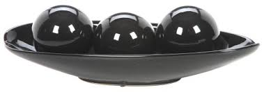 Long Decorative Bowl Amazon Hosley's Black Decorative Bowl And Orb Set Ideal GIFT 40