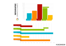 Chart Style 42 Ribbon Style Bar Chart Infographic Buy This Stock Template