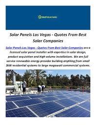 Solar Panels Las Vegas - Quotes From Best Solar Companies Solar Panels Las  Vegas - Quotes