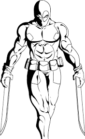 Small Picture Deadpool Coloring Page At Coloring Page esonme