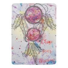 Dream Catcher Blankets Hand Sketch Custom Baby Blankets Zazzle 26