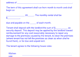 Document Template : Form Free Agreement Rental Template Lease Sample