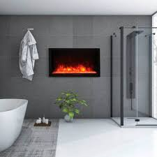 electric fireplace contemporary closed hearth built in bi 40 deep xt