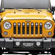 Jk Led Lights T Rex 7314841 Laser Torch Series Black Honeycomb Grille With Led Lights For 07 18 Jeep Wrangler Jk