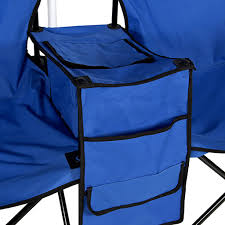 picnic double folding chair w umbrella table cooler camping chair with cooler and table