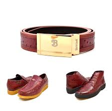 matching belt for style harlem burdy ostrich leather